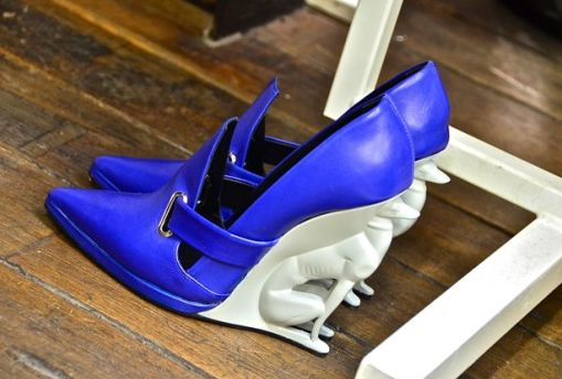 David Koma x Alain Quilicy Blue Greyhound Wedges