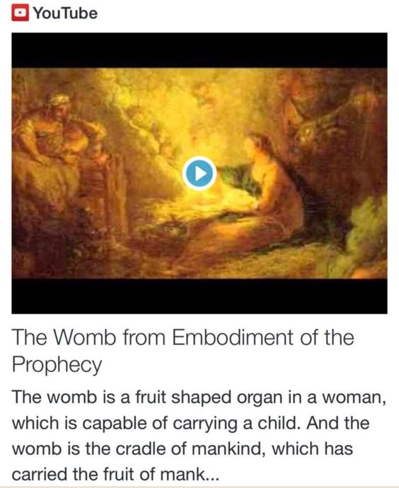 The Womb from Embodiment of the Prophecy http://www.andrewtheprophet.com/11301/260530.html