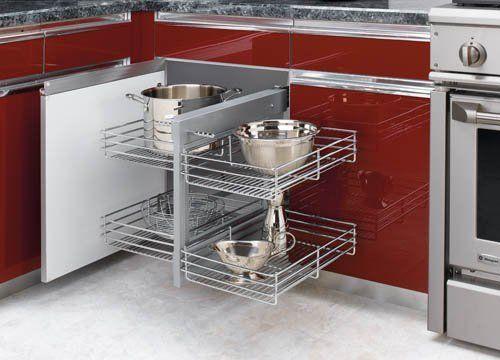 Rev-A-Shelf 5PSP-15-CR Chrome Blind Corner Cabinet Organizer  Price : $299.95 http://www.homeproshops.com/Rev-A-Shelf-5PSP-15-CR-Chrome-Cabinet-Organizer/dp/B005CXGL3A