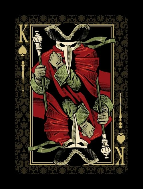 King carnival playing card/tarot