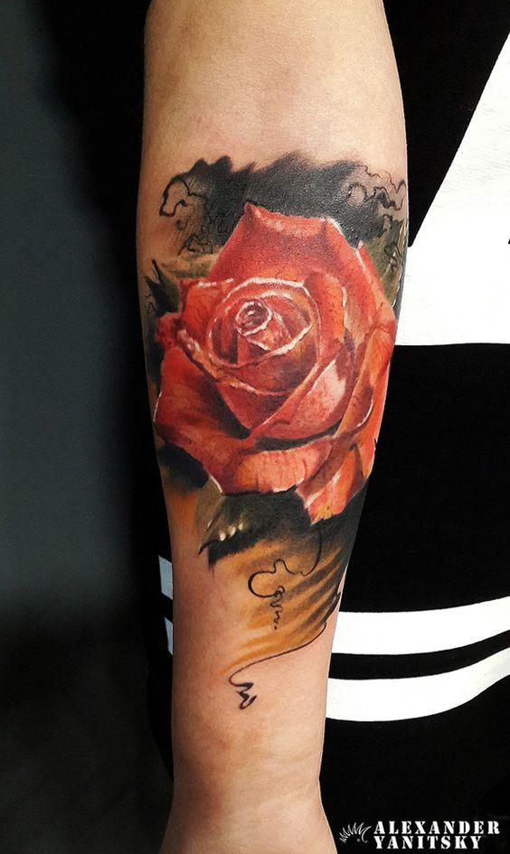 12 Rose Forearm Tattoo