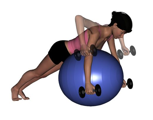 Stability Ball And Dumbbell Exercises 21