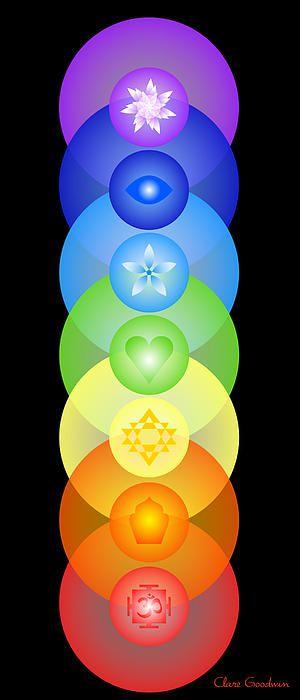 Chakra Rainbow by Clare Goodwin:
