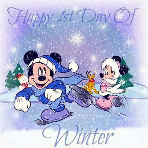 Disney happy first day of winter pic: