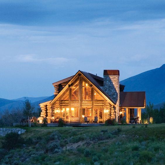 Log cabin builder majestic dream home pinterest for Log cabin dream homes