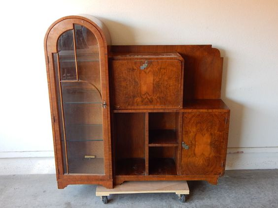 antique art deco bar cabinet 1930 39 s artdeco ebay etsy. Black Bedroom Furniture Sets. Home Design Ideas