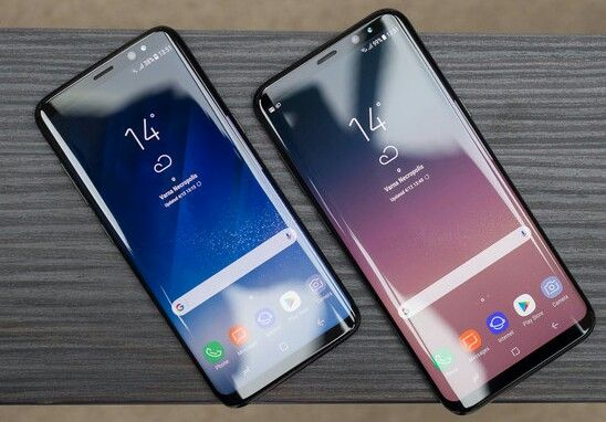 Samsung Galaxy S8 running with Android 8.1 Oreo