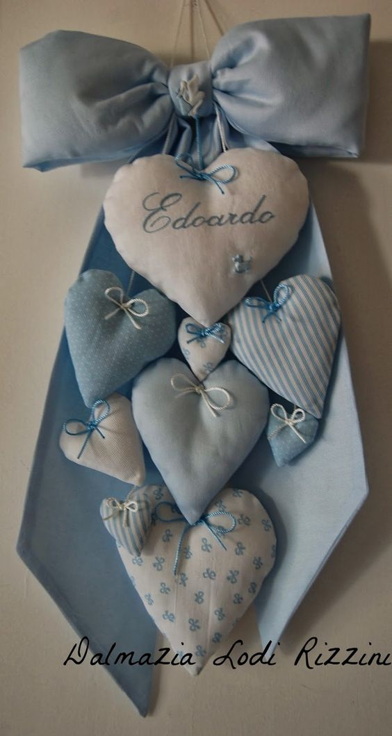 Interesting way to display hearts and not necessarily for a new babe.