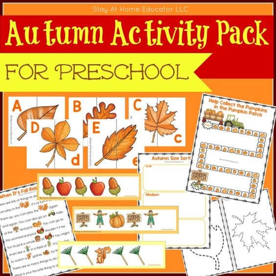 6 Low-Prep Fall Activities for Preschoolers - Stay At Home Educator