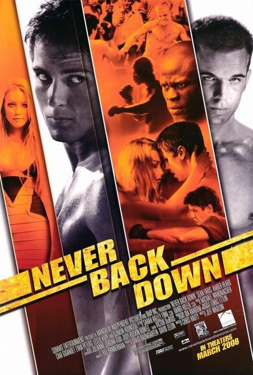 Never Back Down 27x40 Movie Poster 2008 Ver Peliculas Gratis Películas Completas Gratis Sean Faris