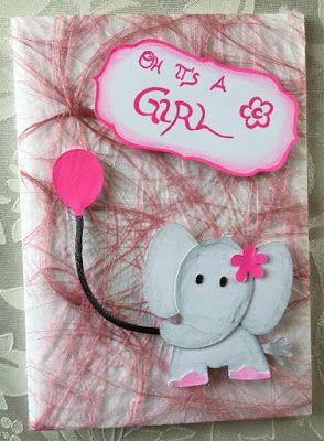 Oh it's a Girl <3 #Baby #Girl #Glückwunschkarte #Mädchen #Billet