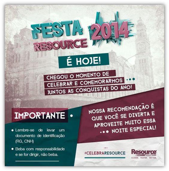Convite de e-mail marketing - Festa Resource