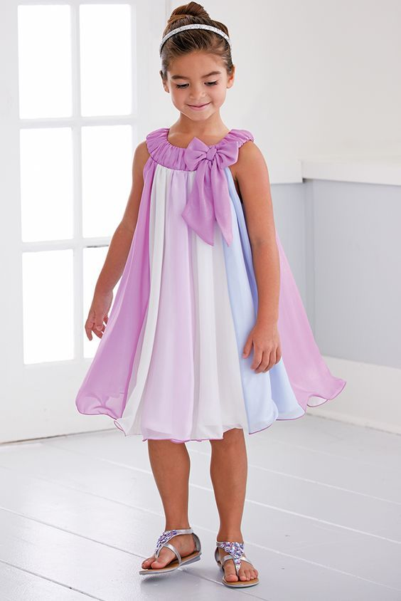 From CWDkids: Chiffon Panel Dress: