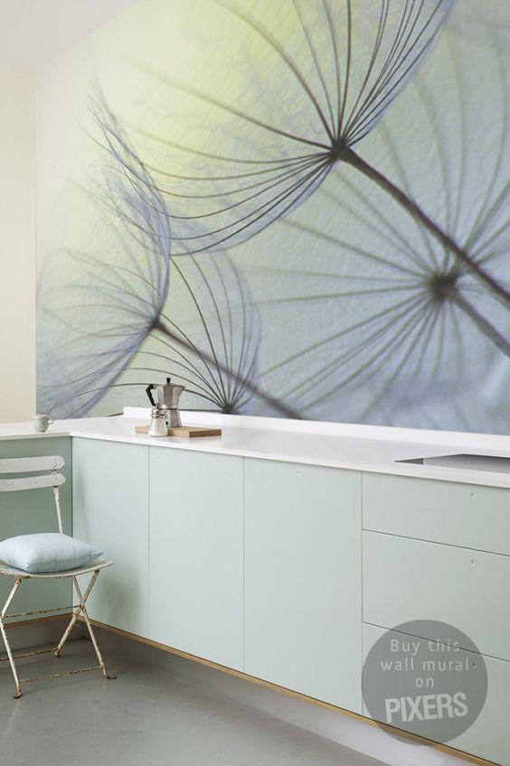 Fototapete Dandelion Seeds - Inspiration fototapete, Raumgestaltung - Galerie • PIXERS.de