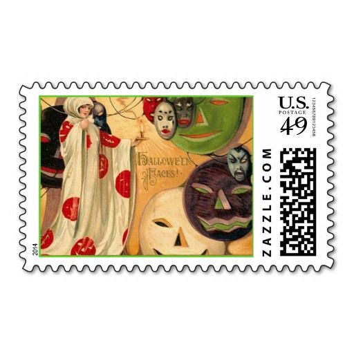 Vintage Halloween Faces Postage Stamp In our offer link above you will seeReview          	Vintage Halloween Faces Postage Stamp today easy to Shops & Purchase Online - transferred directly secure and trusted checkout...