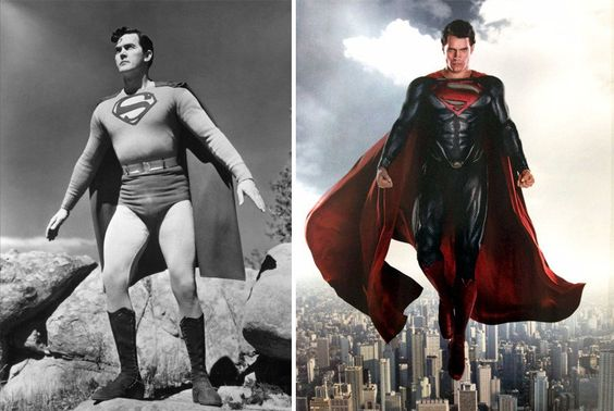 Veja a transformação de 12 super-heróis ao longo do tempo
