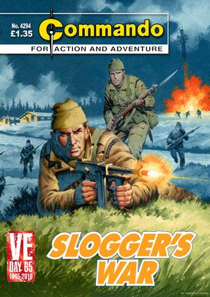 """Commando Comics - Sloggers War. Would-be British Commandos still wear these woollen """"cap comforters"""" on the Commando Course.  (And they still itch...)"""