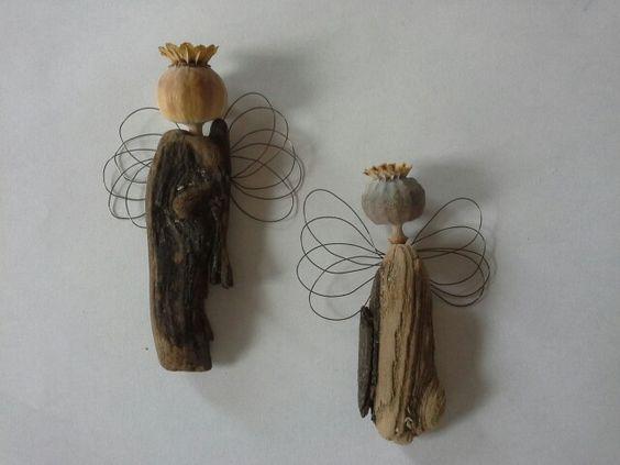 Engel aus treibholz holzarbeiten pinterest engel - Engel basteln aus naturmaterialien ...