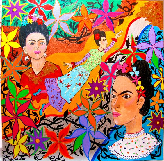 """Dreaming of Frida Kahlo Flying"" by Leandra Holder:"