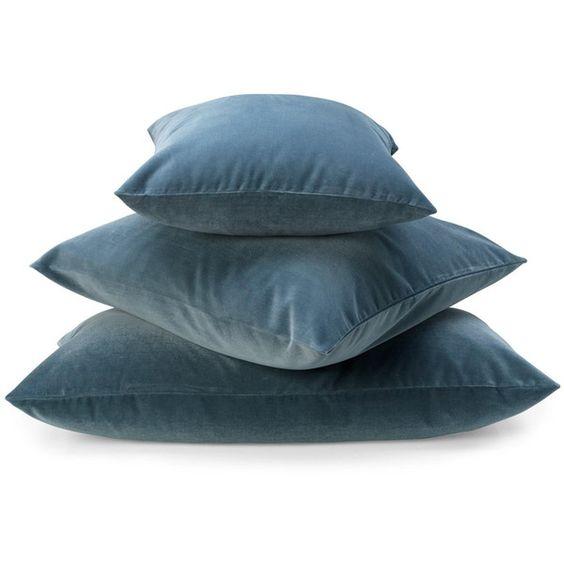 Mille Notti Velluto Kuddöverdrag petrolium 50x90 ❤ liked on Polyvore featuring pillows