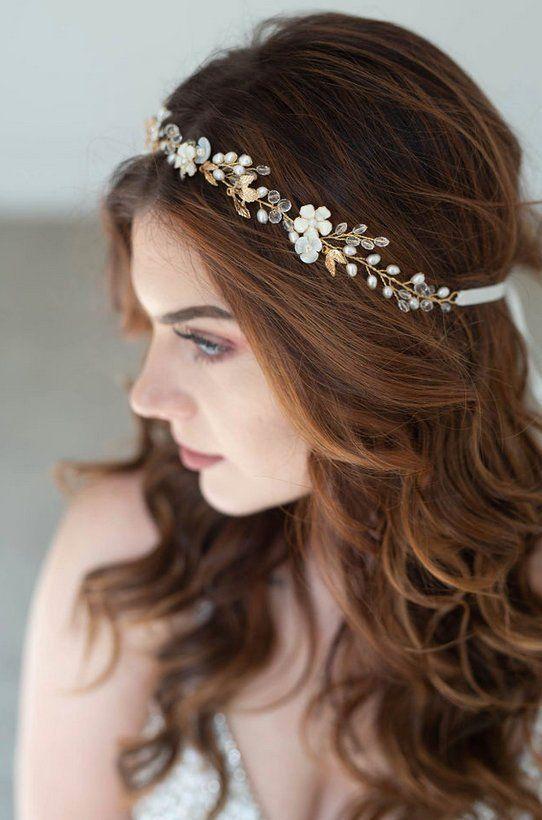 Flower Pearl Wedding Hair Vine Bridal Headband Vintage Headpiece Hair Jewelry
