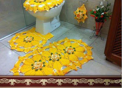 Crochet and Graphs: Jogo de Banheiro Amarelo com GRAFICO