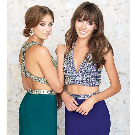 Crop. Till. You. Drop. ✌️ We're obsessed with what's trending from @madison_james this #Prom2015. Are you trying this two-piece trend this year? #twopiece #prom #inspiration #formal #dress #style #trending #uniqueprom