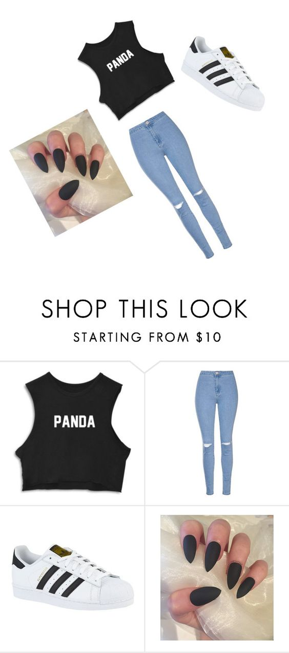 """""""School Outfit"""" by cedayeg1 ❤ liked on Polyvore featuring Glamorous and adidas"""