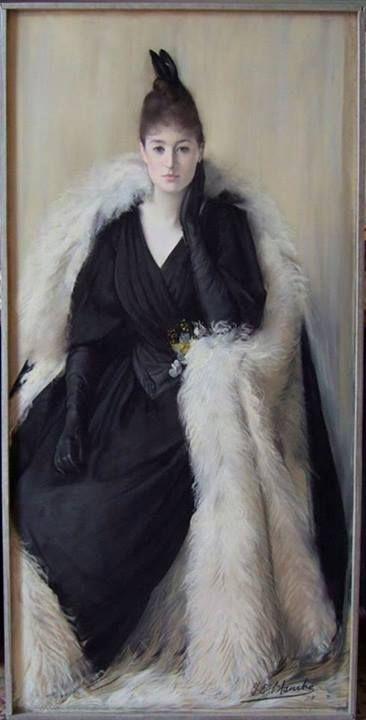 Jacques Emile Blanche - Portrait of Julia Bartet ,1889: