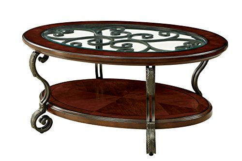 Homes Inside Out Idf 4326c Elizabeth Coffee Table Brown Cherry