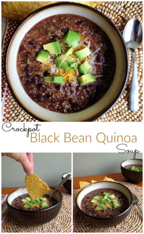 Black bean quinoa, Crockpot and Black beans on Pinterest