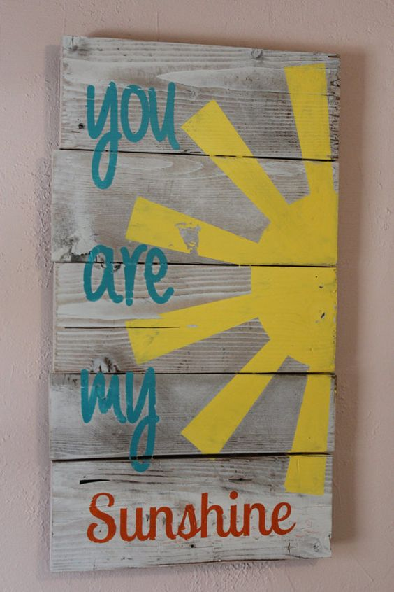 You are my sunshine sign sun shine wooden sign di BrandNewToMe