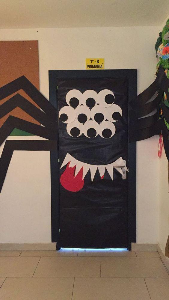 30 Awesome Diy Halloween Door Decorations To Get Inspired Halloween Classroom Decorations Halloween Door Decorations Classroom Halloween Classroom Door Decor