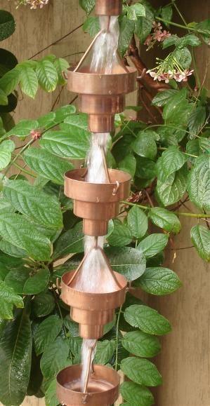 Bamboo Cup Rain Chains Rain Gutter Chain, Copper Rain Chain Downspout for Sale: