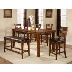Crown Mark - 5-PC Contemporary Figaro Cherry Wood Counter Height Dining Room Set - 592701T-4278S  SPECIAL PRICE: $823.00