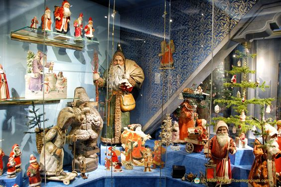 A timeline on the history of Christmas traditions  at the Deutsches Weihnachtsmuseum in Rothenburg: