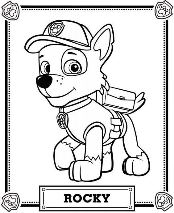 Read Morepaw Patrol Coloring Pages Rocky Paw Patrol Coloring