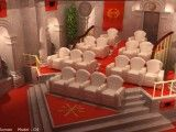"""Elite - traditional - media room - - by elitehts.com""  Me: From the site ""Project: Roman"" [My first thought was Vatican, actually, not counting the ""SPQR""!]"