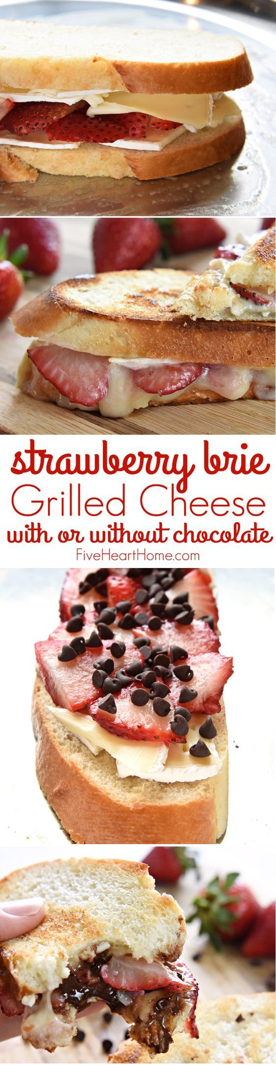Strawberry Brie (Chocolate) Grilled Cheese ~ with fresh fruit and creamy cheese…