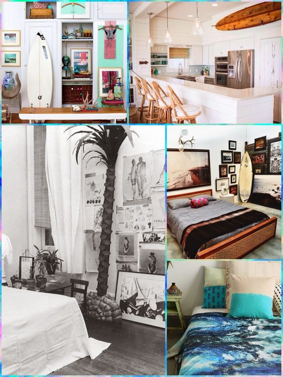 Decor surf style gabi rudge blog cool things fashion for Surfing bedroom designs