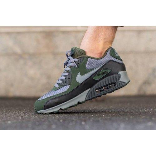 Nike Air Max 90 Essential Carbon Green Grey Mens Trainers | Nike ...