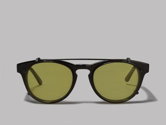 Han Kjøbenhavn Timeless Clip-On Sunglasses (Black / Yellow)