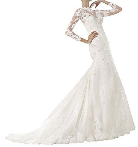 WHAT?...only $189-$229???              Harshori Womens Mermaid Lace 3/4 Length Sleeves Wedding Dress 2 White Harshori  http://www.amazon.com/dp/B00OVNU1OM/ref=cm_sw_r_pi_dp_cLTSub1PK6C64