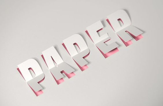 How to Create a 3D Paper Cut Text Effect in Adobe Photoshop Tutorials 3D Graphic Design Paper Photoshop Resource Text Effect Tutorial Typography