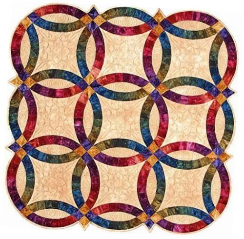 Double Wedding Ring Templates By Sharlene Jorgenson Double Wedding Ring Quilt Wedding Ring Quilt Templates Wedding Ring Quilt