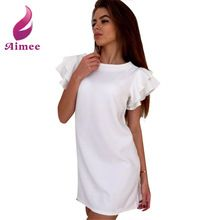 2016 New Arrival Women Summer Style Casual Dress Butterfly Sleeve Sexy Back V Neck Women Dress Feminine Vestidos LJ4780C(China (Mainland))