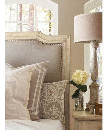 European cottage upholstered panel bed upholstered beds for Classic house day bed