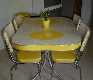 Kitschy yellow vintage kitchen. Follow my blog at http://cdiannezweig.blogspot.com/ and visit my site http://iantiqueonline.ning.com/    C. Dianne Zweig - Kitsch 'n Stuff: Decorating Your Retro Kitchen With Yellow Kitchen Housewares And Collectibles