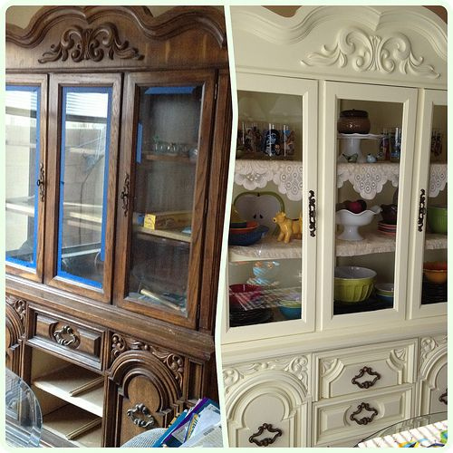 China cabinets china and cabinets on pinterest Revamp old kitchen cabinets