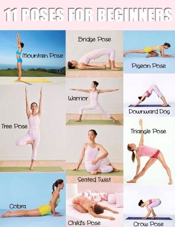 Yoga for beginners - hold each pose for about 20-30 seconds